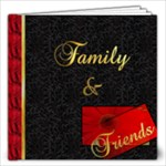 BLACK AND RED BOOK - 12x12 Photo Book (20 pages)