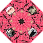 Hot Pink Swirl Folding Umbrella