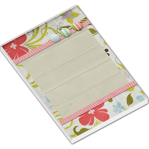 Spring Easter Floral Large Memo Pad By Redhead Scraps   Large Memo Pads   5jzi328q4a0e   Www Artscow Com