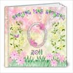 Spring Has Sprung pastel 8x8 photo book - 8x8 Photo Book (20 pages)