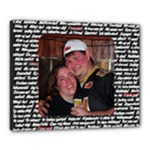 Chris & Lynne I love you! canvas - Canvas 20  x 16  (Stretched)