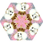 White Poodle Princess Mini Folding Umbrella