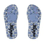 Hippo Blue Childrens Flip Flops - Kid s Flip Flops