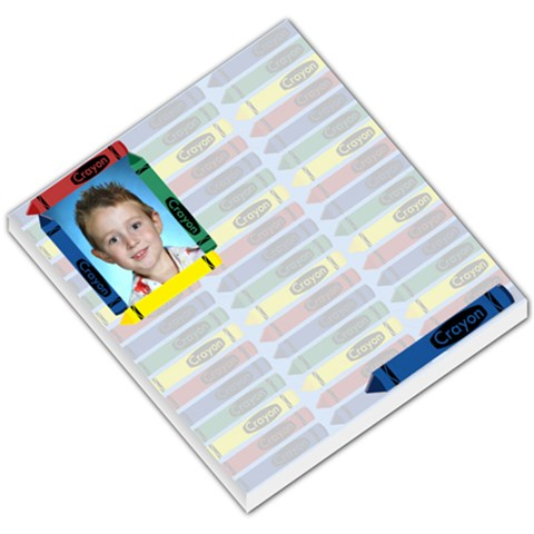 Crayon Small Memo Pad By Chere s Creations   Small Memo Pads   I9c63lgzvq52   Www Artscow Com