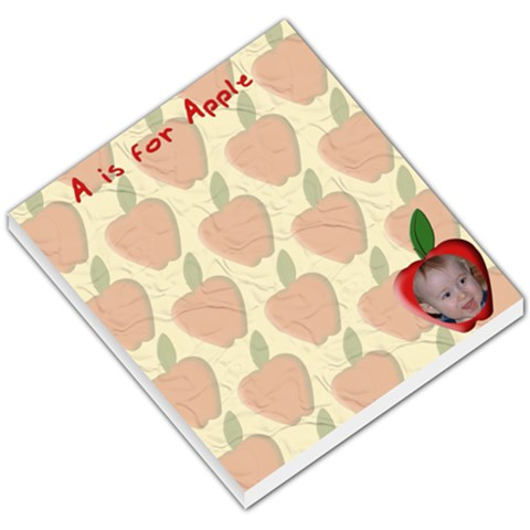 Red Apple Small Memo Pad By Chere s Creations   Small Memo Pads   Myhi72gcnygp   Www Artscow Com