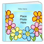 Hearts and Flowers General purpose 8x8 20 page Deluxe Book - 8x8 Deluxe Photo Book (20 pages)