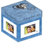 Always & Forever 12 inch photocube stool  storage - Storage Stool 12