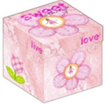 Sweet Nothings Pink Lace Storage stool 12 inch - Storage Stool 12