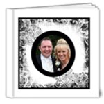 Perfect Day Monochrome Wedding Deluxe 8 x 8 20 page - 8x8 Deluxe Photo Book (20 pages)