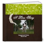 8x8- DELUXE A Love Story- Simple Engagement/Wedding Photobook Template - 8x8 Deluxe Photo Book (20 pages)