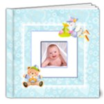 Teddy Beddy Baby Boy Deluxe 8 x 8 Book 20 pages - 8x8 Deluxe Photo Book (20 pages)