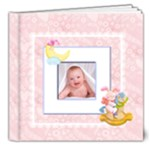 Blanky Bunny Baby Girl deluxe 8 x 8 inch Book 20 pages - 8x8 Deluxe Photo Book (20 pages)