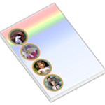 rainbow bubble large memo - Large Memo Pads