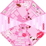 Cute Chocolates Valentine s Folding Umbrella