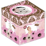 girls pink chocolate storage stool - Storage Stool 12