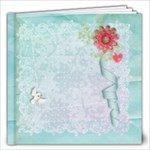 Pastel Flowers & Lace- 12x12 Album - 12x12 Photo Book (20 pages)
