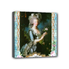 Marie Antoinette Pink Roses And Blue 6 By 8 Copy Mini Canvas 4  x 4  (Stretched)
