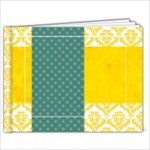 Elizabeth/ Blue & Yellow 9x7 Album-any theme - 9x7 Photo Book (20 pages)