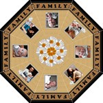 Family Flowers Folding Umbrella