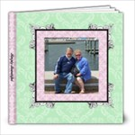 Fancy Pink & Green Album 8x8 39 pages - 8x8 Photo Book (39 pages)