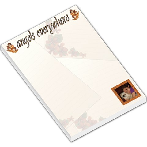 Angels Everywhere Memo Pad By Kim Blair   Large Memo Pads   Bnbiql85v1qv   Www Artscow Com