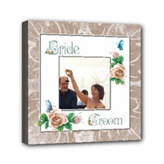 Bride & Groom Mini stretched  Canvas  6 x 6 - Mini Canvas 6  x 6  (Stretched)