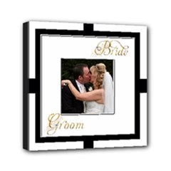 Monochrome Bride & Groom Mini stretched  Canvas  6 x 6 - Mini Canvas 6  x 6  (Stretched)