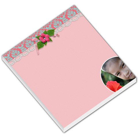 Small Memo Pads   Lace And Flower By Jennyl   Small Memo Pads   Rtv17o266cos   Www Artscow Com