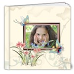 Flower Girl Pattern - 8x8 Deluxe Photo Book (20 pages)