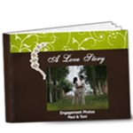 9x7 DELUXE: A Love Story- Simple Engagement/Wedding Photobook Template - 9x7 Deluxe Photo Book (20 pages)