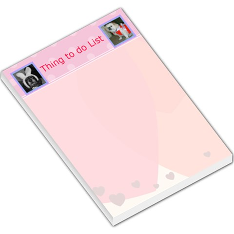 Things To Do List 2 By Kim Blair   Large Memo Pads   V383l9fo8r6r   Www Artscow Com