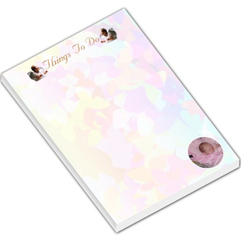 Things To Do List By Kim Blair   Large Memo Pads   Cg8f8eb81rbx   Www Artscow Com