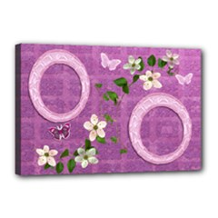 Spring flower floral pink purple 18x12 stretched Canvas - Canvas 18  x 12  (Stretched)