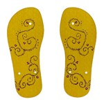 summer vacation yellow flip flops - Women s Flip Flops
