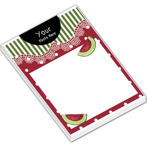 Large Memo Pad Watermelon By Lillyskite   Large Memo Pads   U1x8zieab4sn   Www Artscow Com