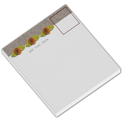 Small Memo Pad   Love Grows1 By Jennyl   Small Memo Pads   Iii9681gwgi9   Www Artscow Com