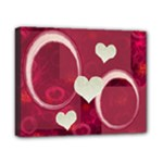 I Heart You pink 8x10 stretched canvas - Canvas 10  x 8  (Stretched)