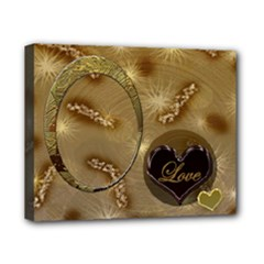 Love Tan 8x10 stretched canvas - Canvas 10  x 8  (Stretched)