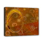 I Love You Gold 8x10 stretched canvas - Canvas 10  x 8  (Stretched)
