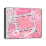 Spring Pink Heart Love 8x10 stretched canvas - Canvas 10  x 8  (Stretched)