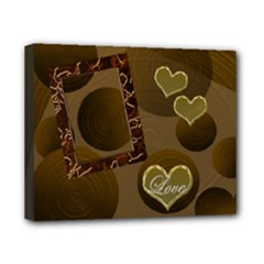 Love Gold cicles 8x10 stretched canvas - Canvas 10  x 8  (Stretched)