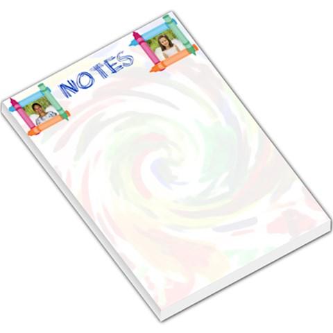 Crayon Memo Pad Large By Kim Blair   Large Memo Pads   Dhbknmgf9qep   Www Artscow Com