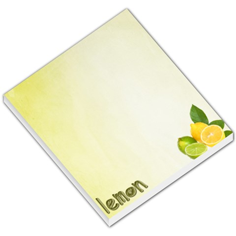 Note Lemon By Kaye   Small Memo Pads   2789jdfcnijn   Www Artscow Com