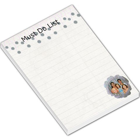 Must Do Memo Pad By Kim Blair   Large Memo Pads   2ntjrl2bvhsu   Www Artscow Com