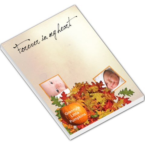Granny s Pumpkins Memo Pad By Laurrie   Large Memo Pads   I648oyg3bkvg   Www Artscow Com