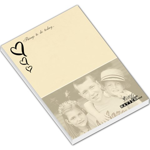 Little Things Matter Memopad By Lana Laflen   Large Memo Pads   B98j8xvnqp7q   Www Artscow Com
