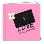 Pink Love You Theme - 8x8 Photo Book (20 pages)
