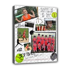 Softball Canvas - Canvas 10  x 8  (Stretched)