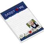 Daddy Loves Me Blue Large Memo Pad - Large Memo Pads