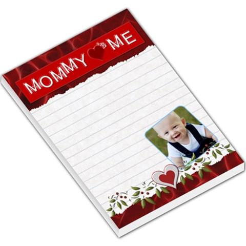 Mommy Loves Me Red Large Memo Pad By Lil    Large Memo Pads   Vzamfzj91hlv   Www Artscow Com
